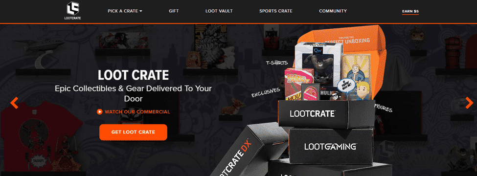 Loot Crate Custom Boxes Inside Flap Example