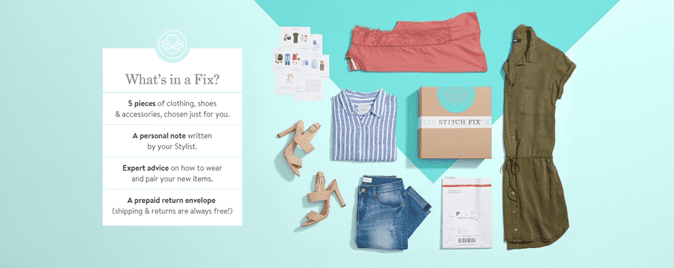 Stitch Fix Retail Printed Packaging Example