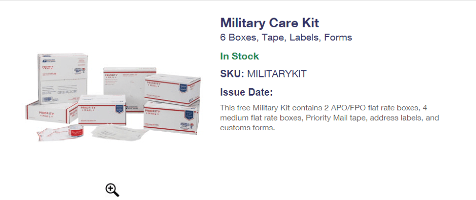 military care package kit